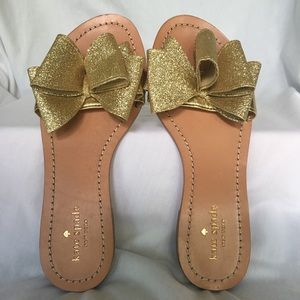 Kate Spade-Cicely Gold Glitter Flats